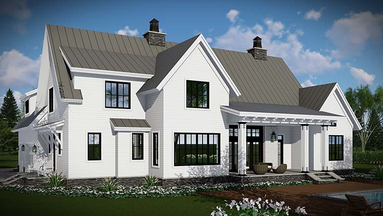 Country, Farmhouse, Traditional House Plan 42683 with 4 Beds, 3 Baths, 3 Car Garage Picture 4