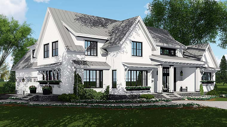 House Plan 42687 | Country Farmhouse Southern Traditional Style Plan with 2886 Sq Ft, 4 Bedrooms, 5 Bathrooms, 3 Car Garage Elevation