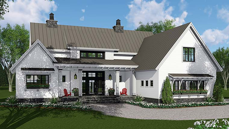 Country Farmhouse Southern Traditional House Plan 42688 Elevation