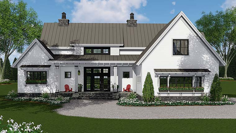 House Plan 42688 | Country Farmhouse Southern Traditional Style Plan with 2125 Sq Ft, 3 Bedrooms, 3 Bathrooms, 2 Car Garage
