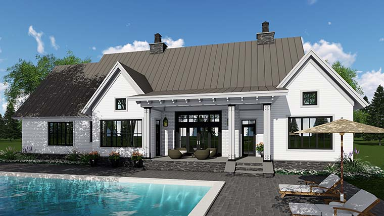 Country Farmhouse Southern Traditional House Plan 42688