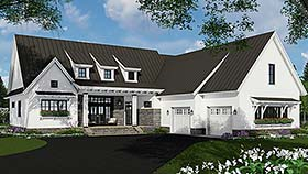 Bungalow Cottage Craftsman Ranch House Plan 42689 Elevation