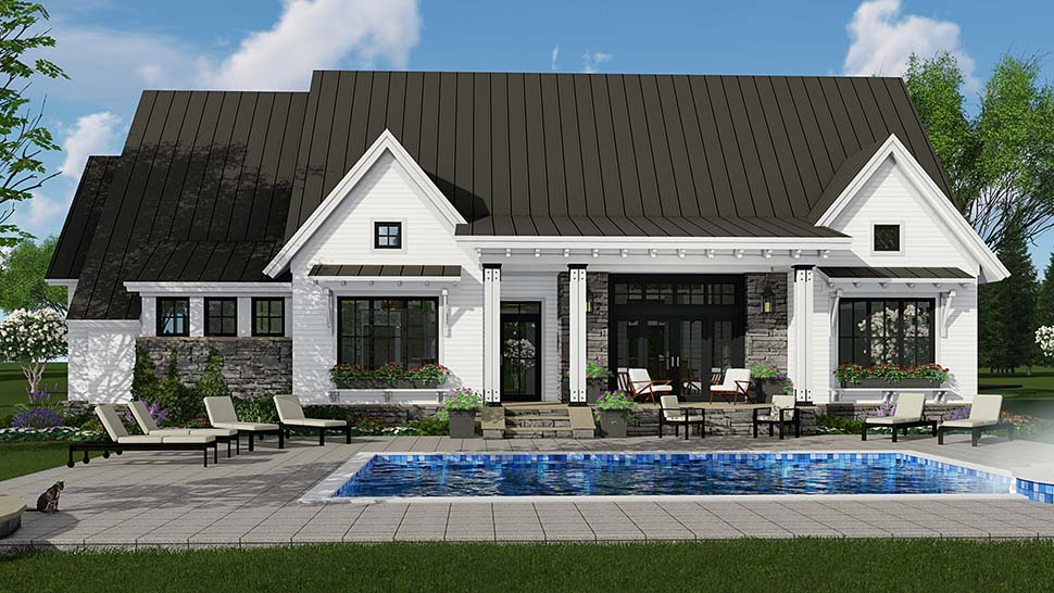 Bungalow Cottage Craftsman Ranch House Plan 42689 Rear Elevation