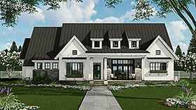 Country , Farmhouse , Traditional House Plan 42691 with 3 Beds, 3 Baths, 2 Car Garage Elevation