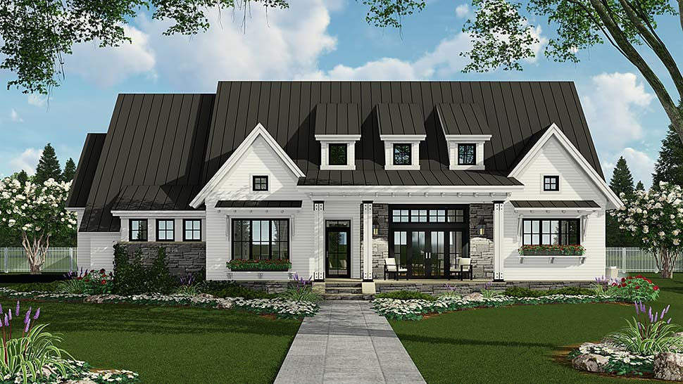Country Farmhouse Traditional Elevation of Plan 42691