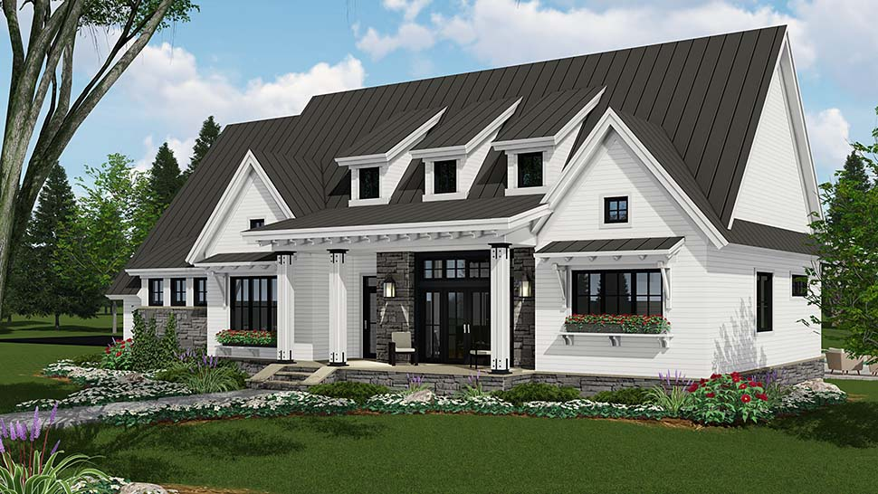 Country, Farmhouse, Traditional House Plan 42691 with 3 Beds, 3 Baths, 2 Car Garage Picture 1