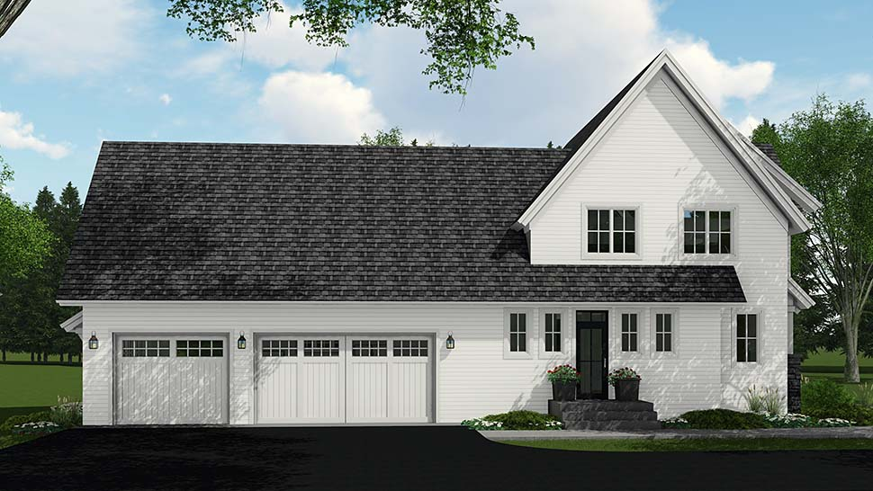 Country, Farmhouse House Plan 42693 with 4 Beds, 4 Baths, 3 Car Garage Picture 2