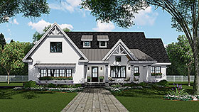 Bungalow Country Craftsman Farmhouse Traditional House Plan 42694 Elevation