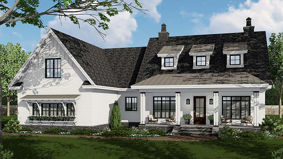 Country , Craftsman , Farmhouse , Traditional House Plan 42695 with 3 Beds, 3 Baths, 2 Car Garage Elevation