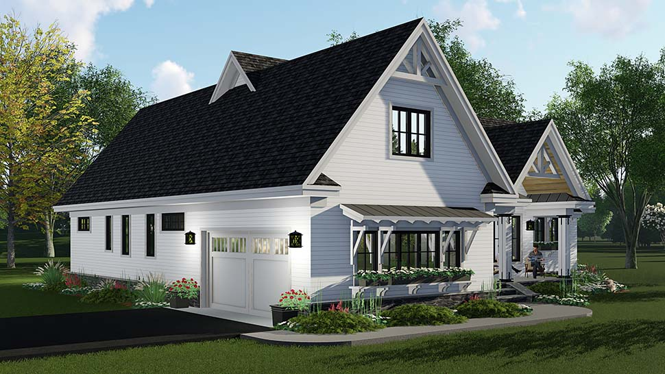 Country, Craftsman, Farmhouse, Southern House Plan 42696 with 3 Beds, 3 Baths, 2 Car Garage Picture 2
