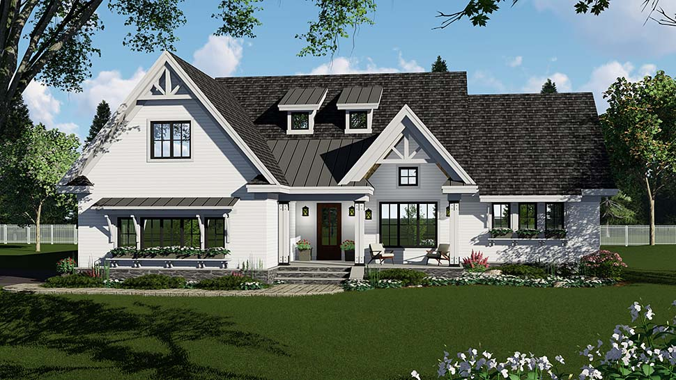 Country, Craftsman, Farmhouse, Southern House Plan 42696 with 3 Beds, 3 Baths, 2 Car Garage Picture 3