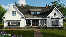 House Plan 42697 | Country Craftsman Farmhouse Style Plan with 2514 Sq Ft, 4 Bed, 4 Bath, 2 Car Garage Elevation
