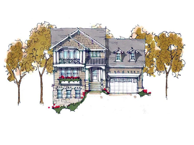 House Plan 42800 | Coastal Craftsman Traditional Style Plan with 3581 Sq Ft, 5 Bedrooms, 4 Bathrooms, 2 Car Garage Elevation