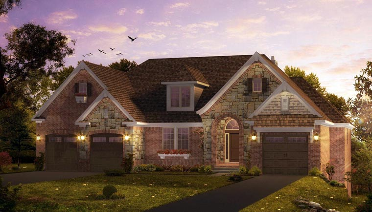 Traditional , European , Craftsman House Plan 42804 with 1 Beds, 2 Baths, 3 Car Garage Elevation