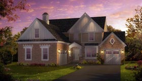 Traditional , Greek Revival , Colonial House Plan 42812 with 3 Beds, 4 Baths, 3 Car Garage Elevation