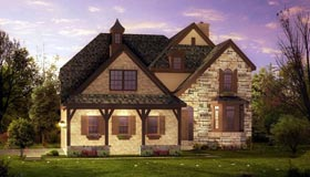 Tudor , French Country , European House Plan 42813 with 4 Beds, 4 Baths, 3 Car Garage Elevation