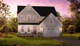 Traditional , Colonial House Plan 42817 with 4 Beds, 3 Baths, 2 Car Garage Elevation