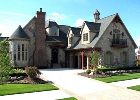 Tudor , French Country , European House Plan 42820 with 4 Beds, 4 Baths, 3 Car Garage Elevation
