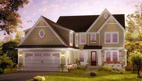Cape Cod Craftsman House Plan 42821 Elevation