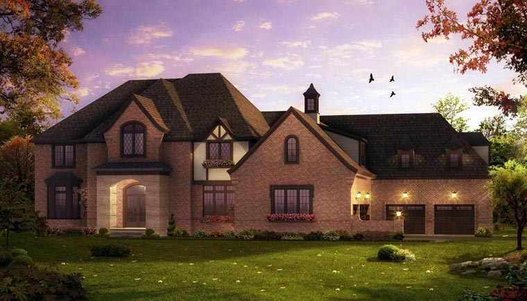 European French Country Tudor House Plan 42824 Elevation