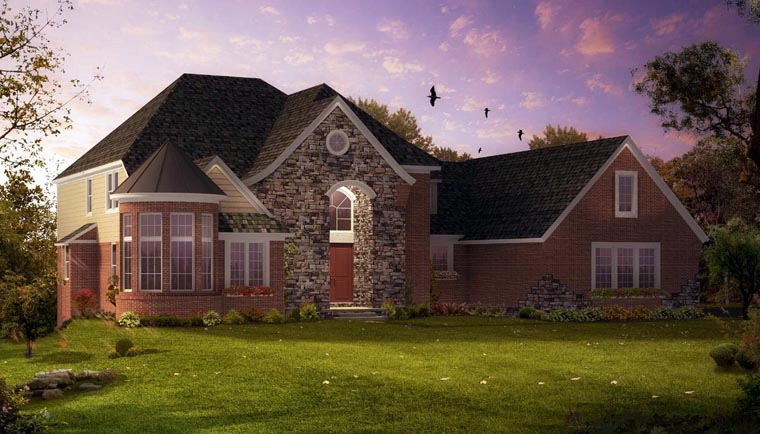 European Traditional House Plan 42825 Elevation