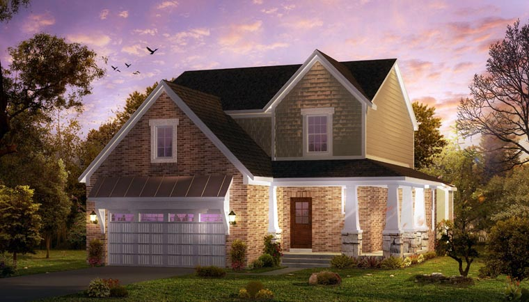 Cottage, Country, Craftsman, Farmhouse, Traditional House Plan 42826 with 3 Beds, 4 Baths, 2 Car Garage Elevation