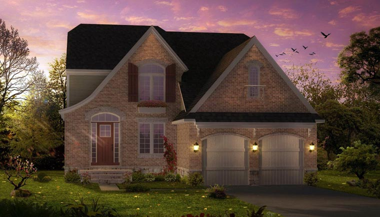 Cottage , Country , Craftsman House Plan 42828 with 4 Beds, 3 Baths, 2 Car Garage Elevation