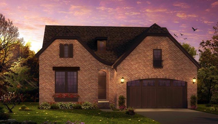 European, Tudor House Plan 42829 with 3 Beds, 3 Baths, 2 Car Garage Front Elevation