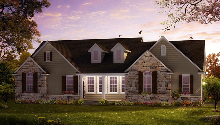 Coastal Ranch House Plan 42833 Elevation