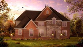 Colonial Traditional House Plan 42837 Elevation