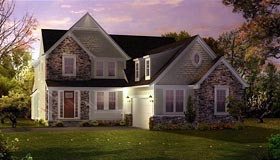 House Plan 42838 | Cape Cod Coastal Style Plan with 2815 Sq Ft, 3 Bedrooms, 3 Bathrooms, 2 Car Garage Elevation