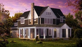 Coastal Colonial Traditional House Plan 42840 Elevation