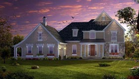 Cape Cod , Coastal , Traditional House Plan 42841 with 3 Beds, 3 Baths, 2 Car Garage Elevation
