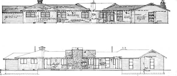 Country Ranch Retro House Plan 43001 Rear Elevation