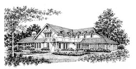House Plan 43014 Elevation