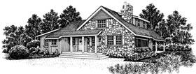 Cabin European House Plan 43038 Elevation
