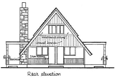 A Frame Cabin Contemporary House Plan 43048