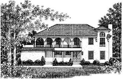 Mediterranean House Plan 43063 Elevation