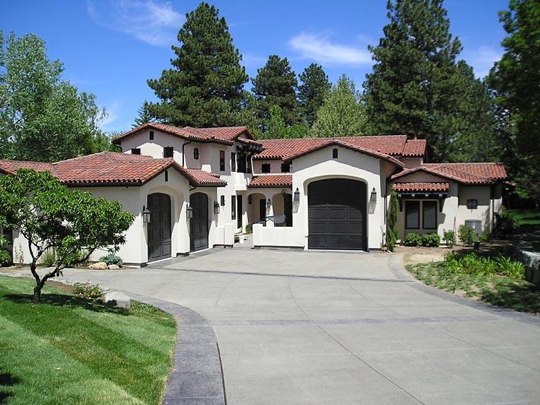 Mediterranean, Santa Fe, Southwest House Plan 43101 with 5 Beds, 5 Baths, 3 Car Garage Front Elevation