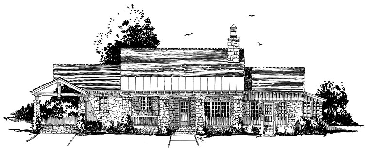 Cabin, Craftsman, Tudor House Plan 43202 with 3 Beds, 3 Baths, 1 Car Garage Picture 1