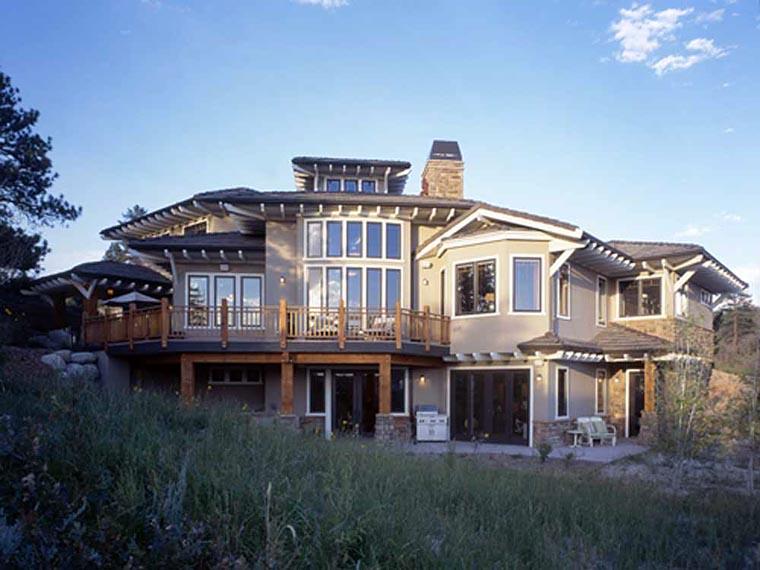 Craftsman Prairie Style Southwest House Plan 43205 Rear Elevation