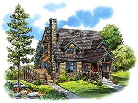 Cabin , Cape Cod , Country House Plan 43206 with 3 Beds, 3 Baths Elevation