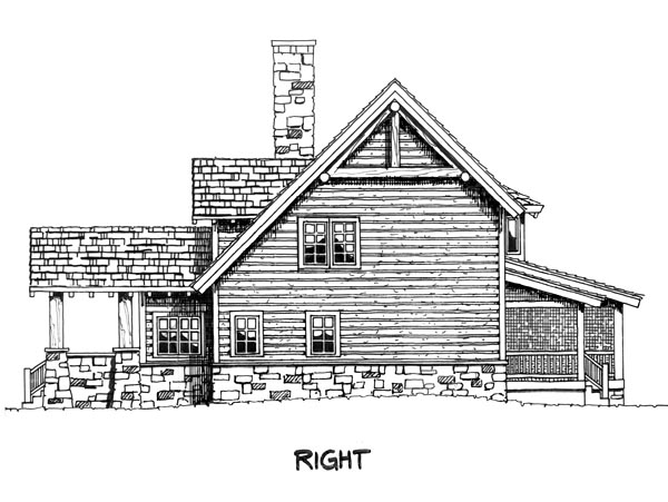 Cabin Cape Cod Country House Plan 43206