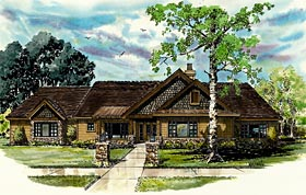 Bungalow , Craftsman , Ranch House Plan 43207 with 3 Beds, 2 Baths, 3 Car Garage Elevation