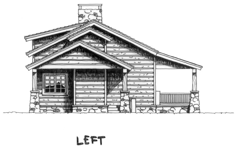Cabin Country Log House Plan 43211