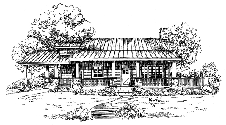 Cabin, Country, Log House Plan 43211 with 2 Beds, 1 Baths, 1 Car Garage Picture 4