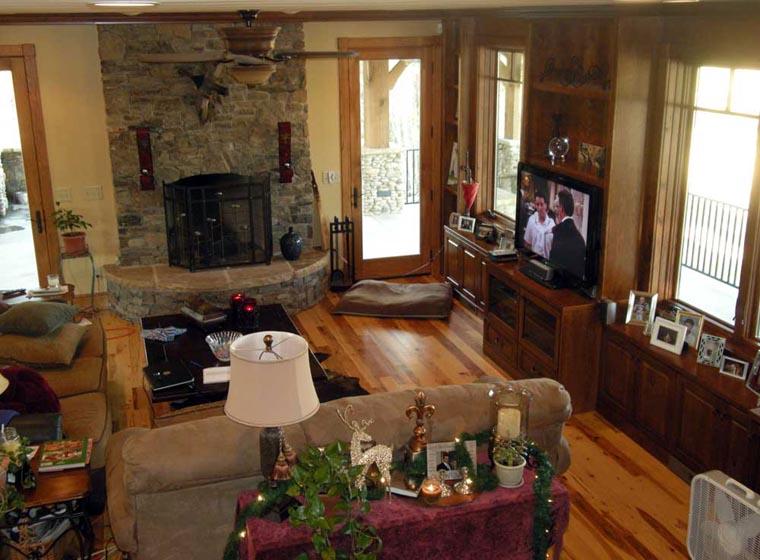 Country Craftsman Log House Plan 43213