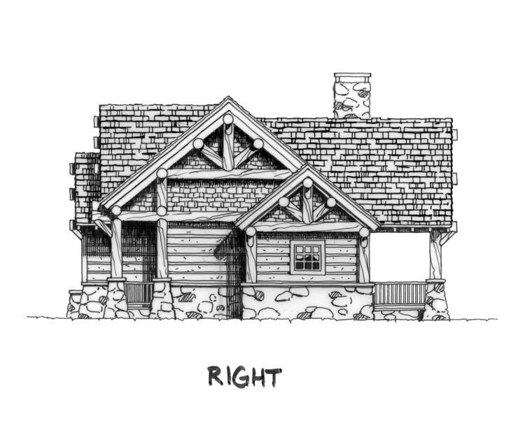 Cabin craftsman log house plan 43214 for Craftsman log homes