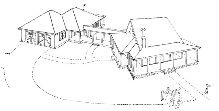 Country Ranch House Plan 43215