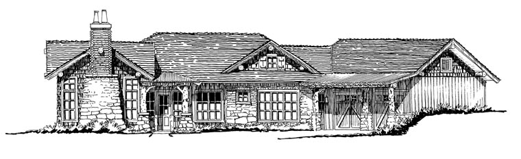 Country Craftsman Ranch House Plan 43216